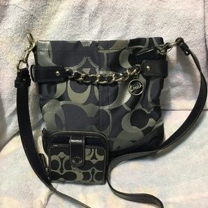 Coach Large Crossbody purse with matching wallet